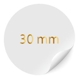 ronde sticker 30mm, foliedruk, 40 per vel