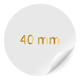 ronde sticker 40mm, foliedruk, 24 per vel