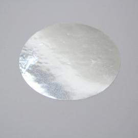 Spiegelzilveren sticker 43 mm, 100st