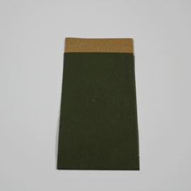 papieren zakje olijfgroen , 25 st