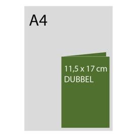 kaart 11,5 x 17cm dubbelgevouwen, foliedruk, standaard papier, vanaf 50st
