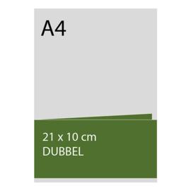 kaart 10 x 21cm dubbelgevouwen, foliedruk, standaard papier, vanaf 50st