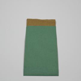 papieren zakje muntgroen , 25 st