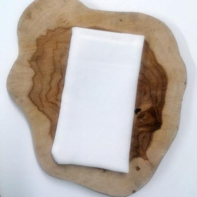 wit ribfluwelen zakje, 5st