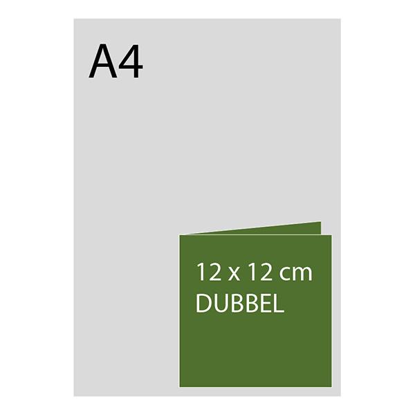 kaart 12 x 12cm dubbelgevouwen, foliedruk, luxe papier, vanaf 50st