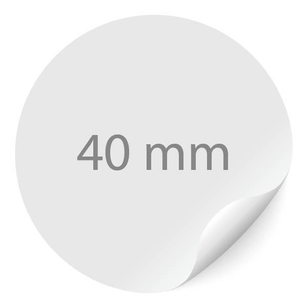 ronde sticker 40mm, 24 per vel