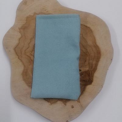 recht zachtblauw ribfluwelen zakje, 5st