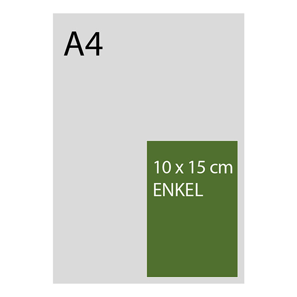 kaart 10 x 15cm foliedruk, multiloft, vanaf 50st
