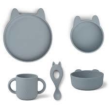 Vivi silicone set -  rabbit sea blue - Liewood