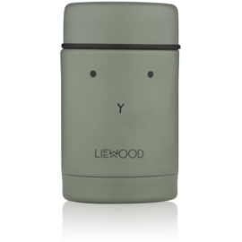 Nadja food jar - rabbit faune green - Liewood