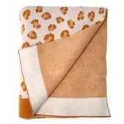 Knitted blanket - Leopard brown/oker - Eef Lillemor