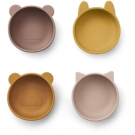 Iggy silicone bowls - rose mix - Liewood