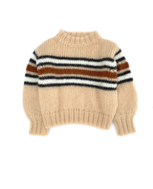 Kids Striped Sweater - Natural Stripe- Long Live The Queen