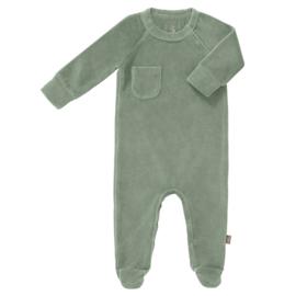 pyjama velours met voet - Forest green- Fresk