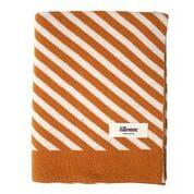 Knitted blanket - Stripes oker - Eef Lillemor
