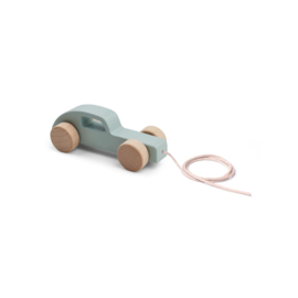 Abby pull along toy - car/ dusty mint - Liewood