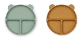 Merrick divider plate set 2 - peppermint/golden caramel mix - Liewoo