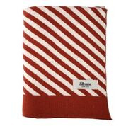 Knitted blanket - Stripes rust - Eef Lillemor