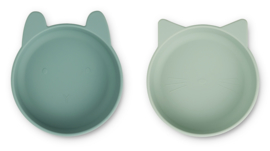 Vanessa bowl silicone 2-pack  - mint mix - Liewood