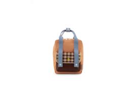 Backpack  small - Gingham - Sticky Lemon