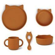 Vivi silicone set -  cat mustard - Liewood