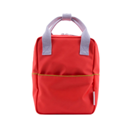 Backpack  - Small  corduroy sporty red - Sticky Lemon