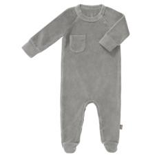pyjama velours met voet - Paloma grey - Fresk