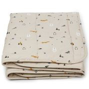 Ebbe quilted blanket - Artic mix - Liewood