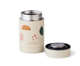 Nadja food jar - Geometric foggy mix - Liewood