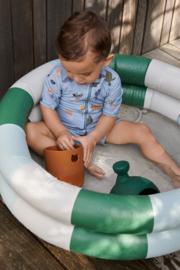 Pool Leonore - stripes garden green/sandy/dove blue - Liewood
