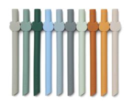 Badu Rietjes silicone 10-pack - blue wave multi mix - Liewood