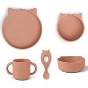 Vivi silicone set -  cat dark rose - Liewood