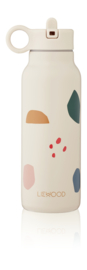 Falk water bottle 350ml - Geometric multi mix - Liewood