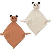 Yoko mini cuddle cloth - panda tuscany rose/sandy mix - Liewood