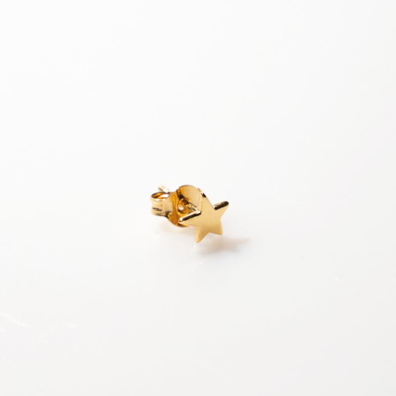 oorring single - star gold - Selva Sauvage