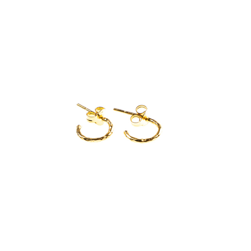 Hoops  single - hammered - gold - Selva Sauvage
