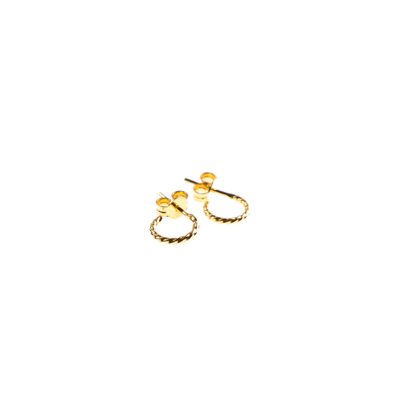 Hoops  single - twisted rope - gold - Selva Sauvage