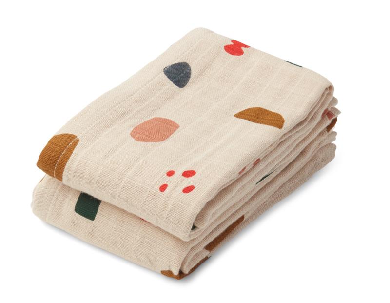 Lewis muslin cloth - Geometric foggy mix - Liewood