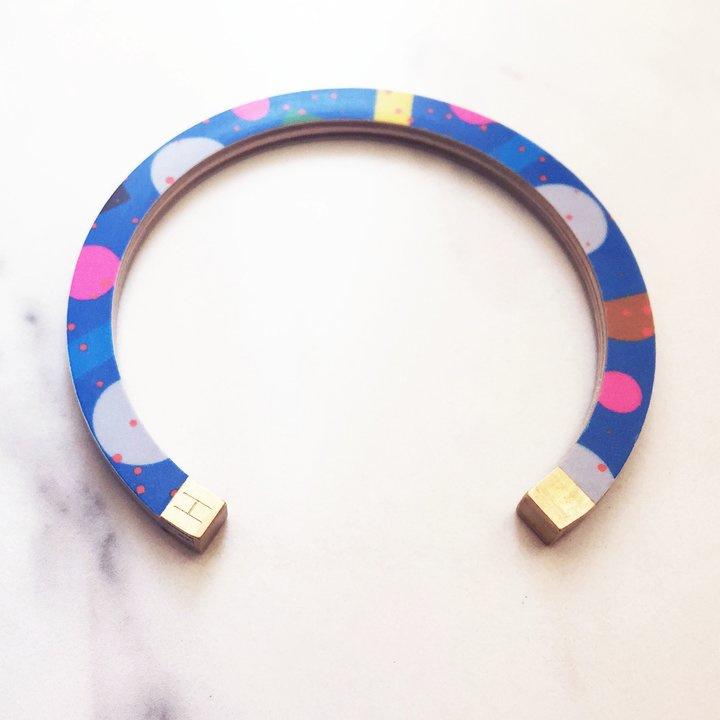 Bracelet - bangle blue pizza/pink pizza - Hippstory