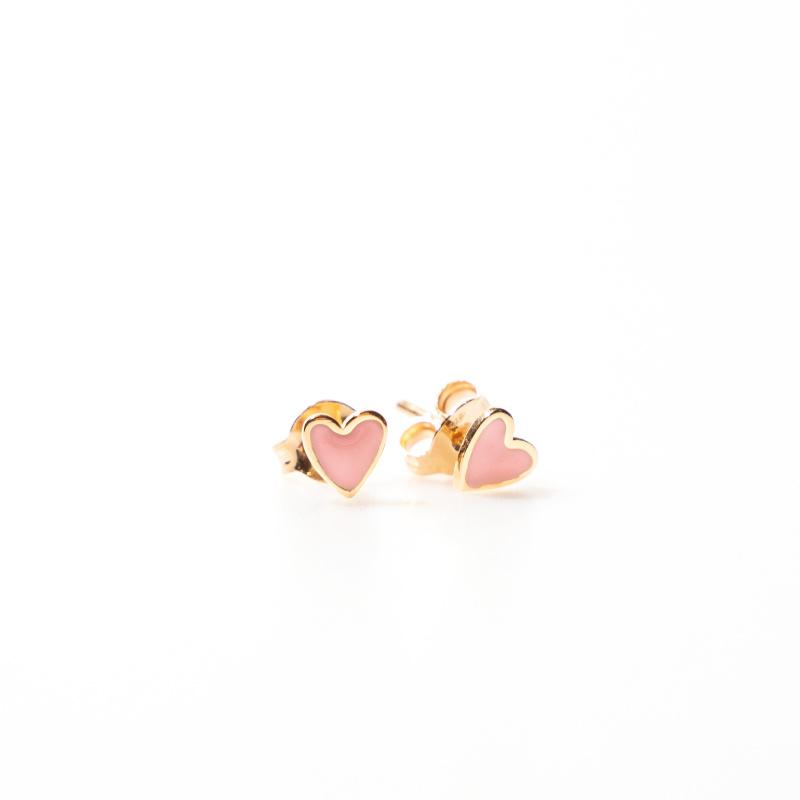 oorring single - heart pink - Selva Sauvage