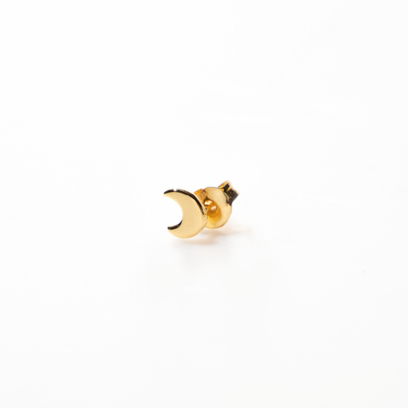 oorring single - moon gold - Selva Sauvage