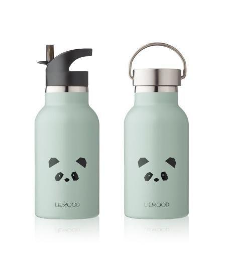 Anker drinking bottle - panda dusty mint - Liewood