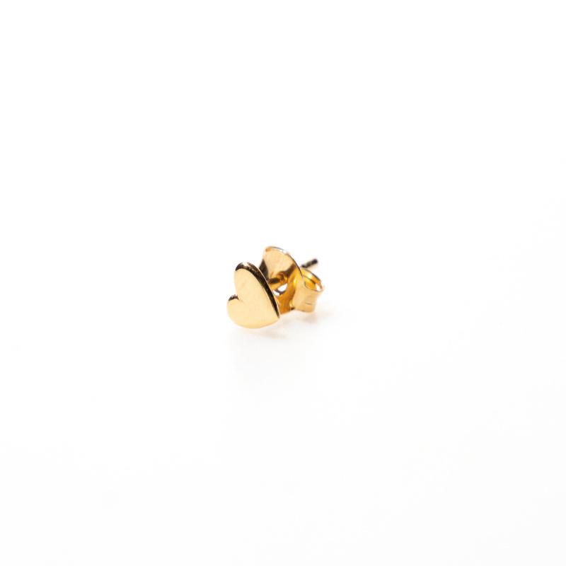 oorring single - heart gold - Selva Sauvage