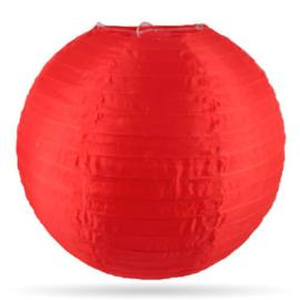 Nylon lampion buiten rood