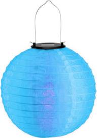 Solar lampion blauw 30 cm