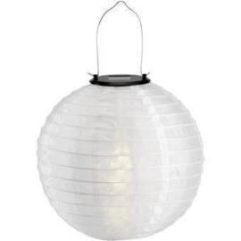 Solar lampion wit 30 cm