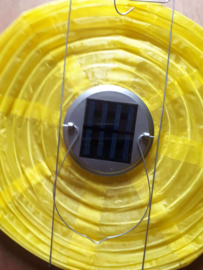 Solar lampion geel 30 cm