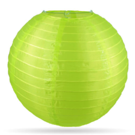 Nylon lampion buiten limoen groen