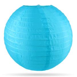 Nylon lampion buiten blauw