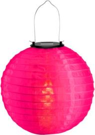 Solar lampion roze 30 cm